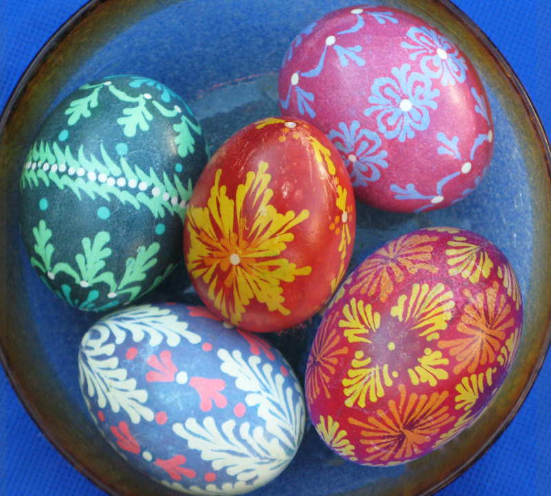 bowl of Lithuanian-style eggs