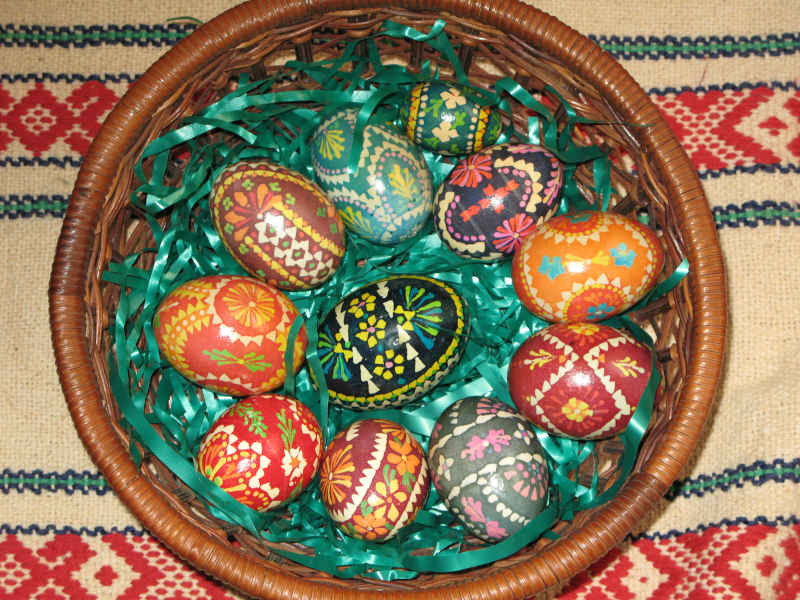 basket of Wendish eggs